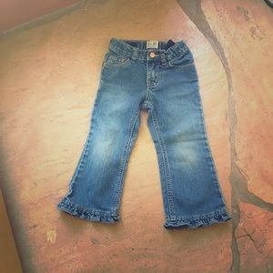 Other - Toddler ruffle jeans 3 t